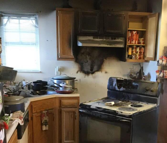 Appliance fire in kitchen  Before